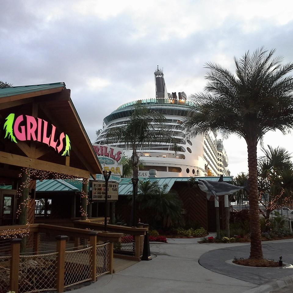 Newly renovated port canaveral grills seafood deck tiki bar - Grills seafood deck tiki bar ...