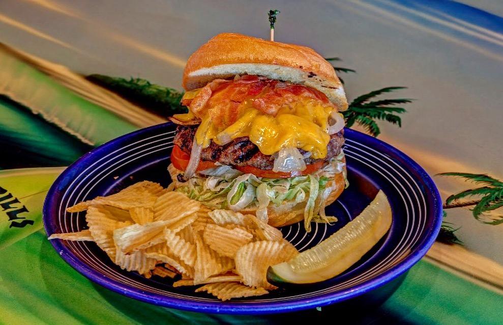 Cat 5 Hurricane Burger Grills Seafood Deck Tiki Bar