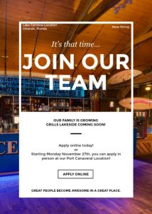 Grills lakeside online application
