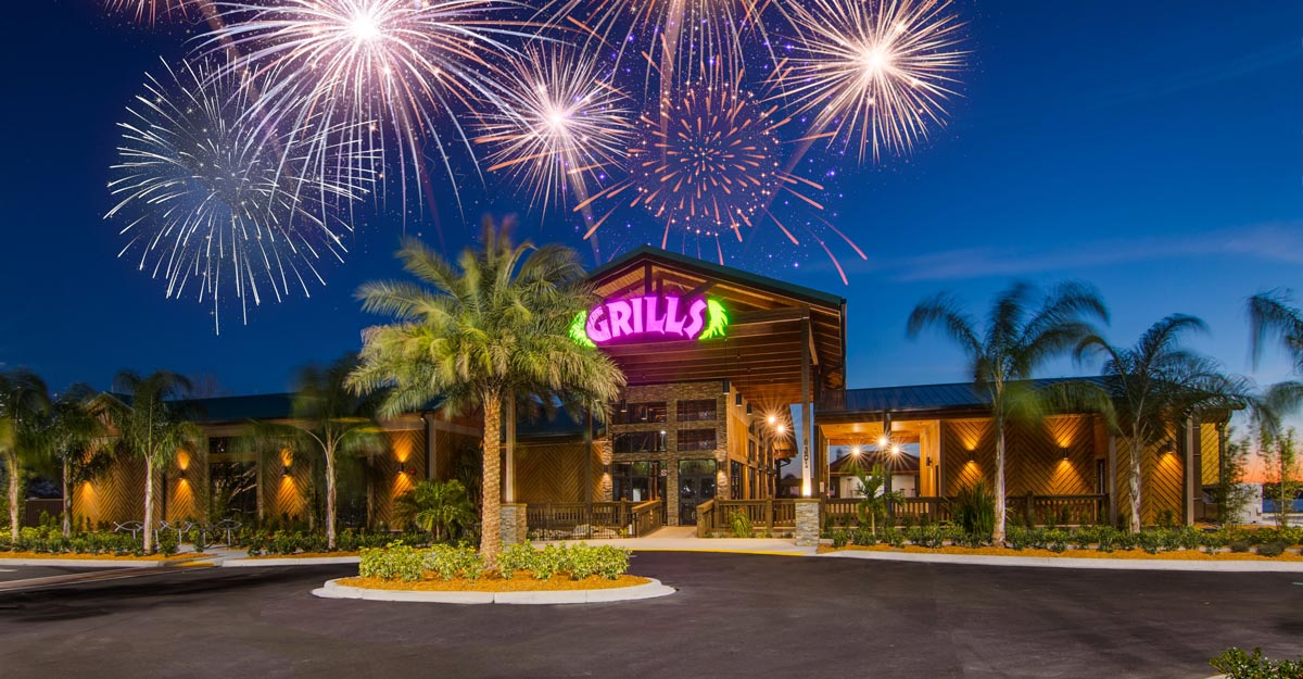 Fireworks at Grills Lakeside - July 2nd