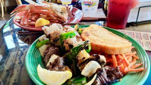 steak combo kabab grills lakeside popular dish snow crab clusters fresh seafood