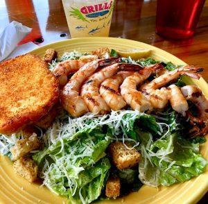 shrimp local wild ocean seafood rock shrimp Caesar salad fresh grills lakeside