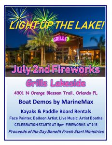 Light Up the Lake - Fireworks @ Grills Lakeside